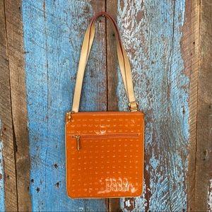 Arcadia Orange Patent Leather Crossbody